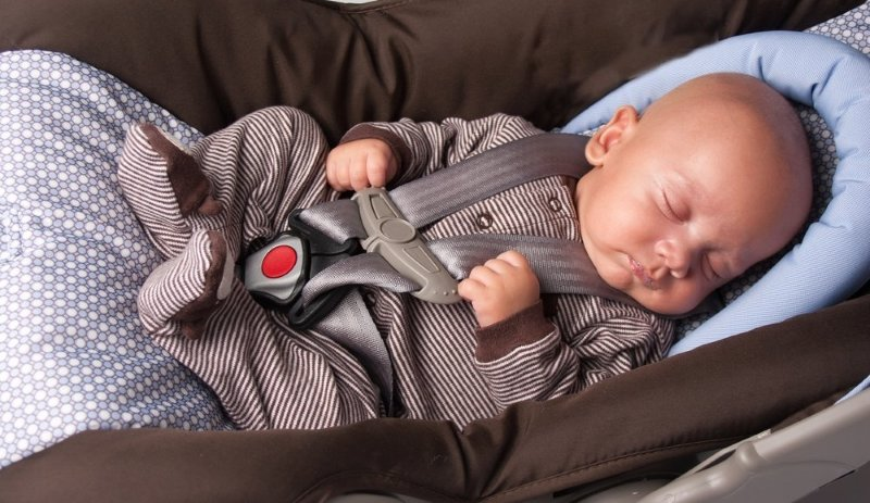 Positioning A Baby With A Newborn Car Seat Insert And Headrest