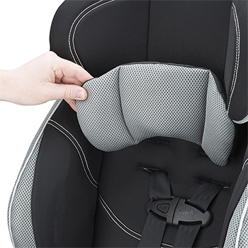 Evenflo chase car seat material